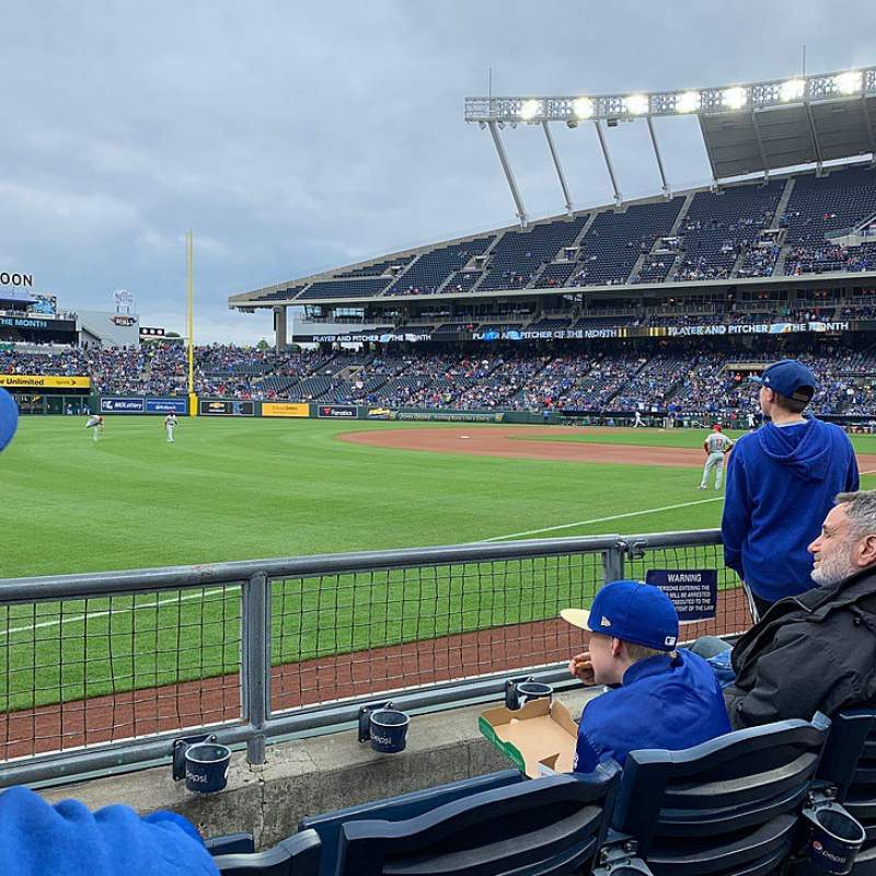 Seating view for Kauffman Stadium Section 112 Row E Seat 7