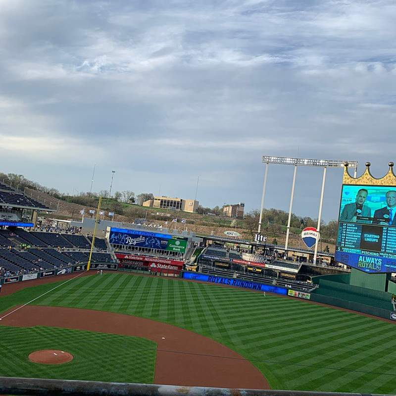 Seating view for Kauffman Stadium Section 429 Row B Seat 10