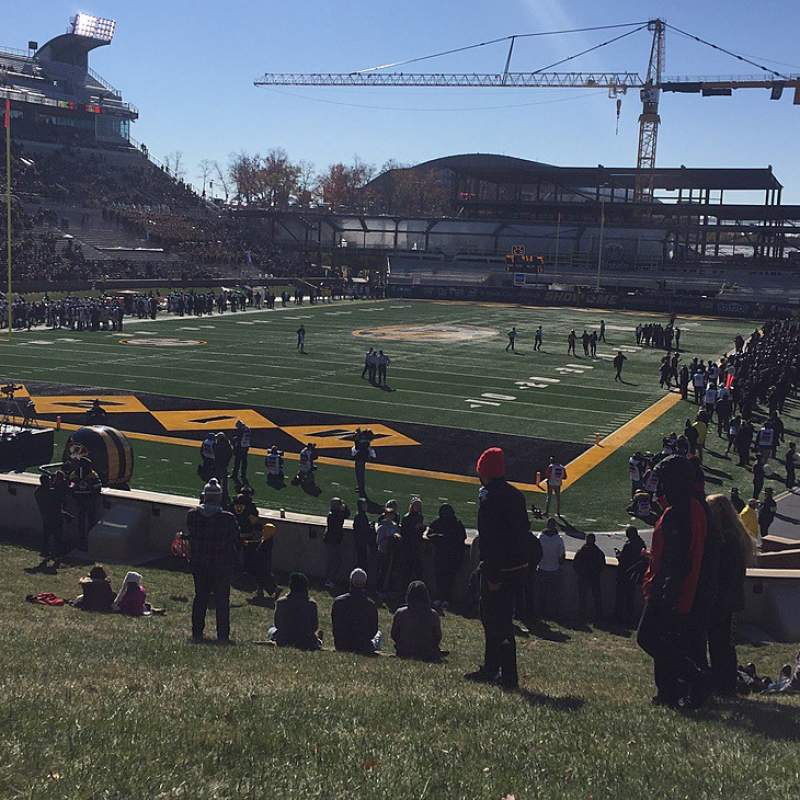 Seating view for Faurot Field Section HILL Row G01 Seat 401