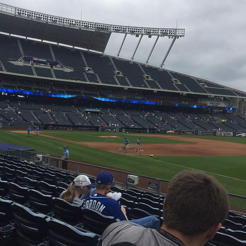 Seating view for Kauffman Stadium Section 141 Row K Seat 12