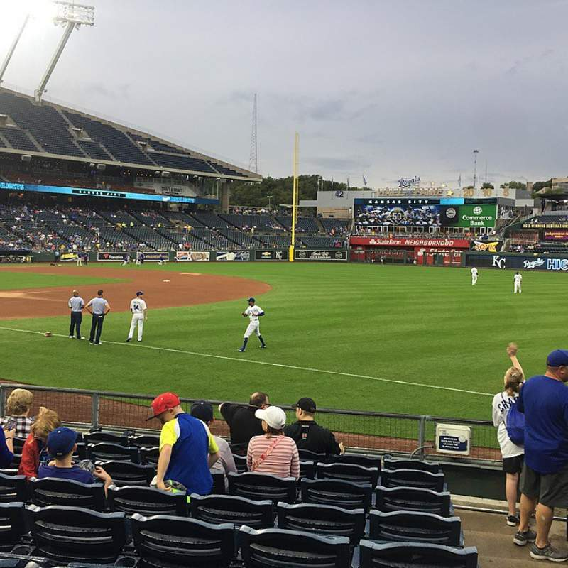 Seating view for Kauffman Stadium Section 141 Row K Seat 11