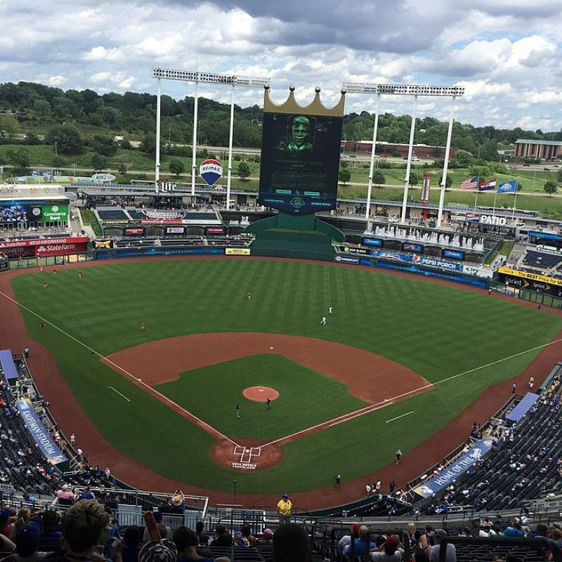 Seating view for Kauffman Stadium Section 420R Row ZZ Seat 27