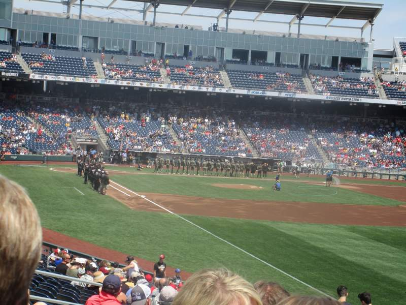Seating view for TD Ameritrade Park Section 101 Row 29 Seat 10