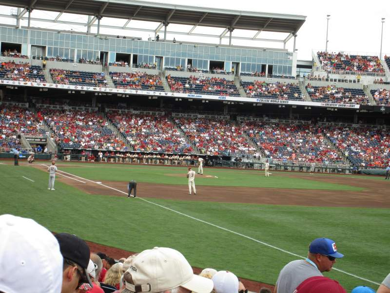 Seating view for TD Ameritrade Park Section 102 Row 14 Seat 10