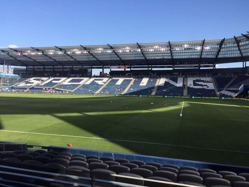 Seating view for Children's Mercy Park Section 111 Row 10 Seat 16