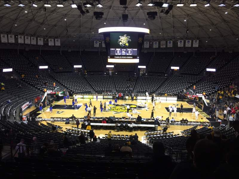 Seating view for Charles Koch Arena Section 120 Row 30 Seat 6