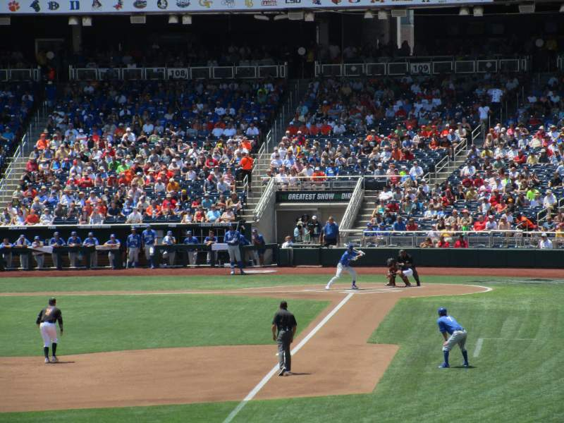 Seating view for TD Ameritrade Park Section 124 Row 27 Seat 8