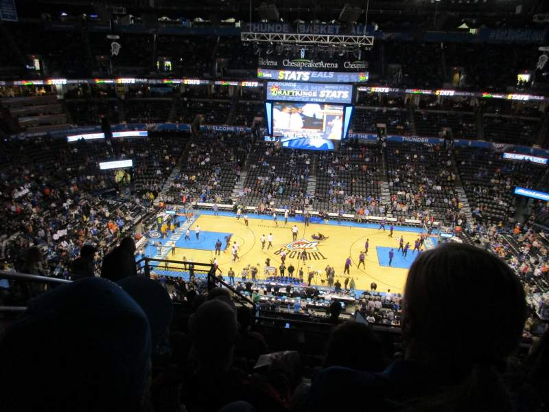 Seating view for Chesapeake Energy Arena Section 323 Row K Seat 18