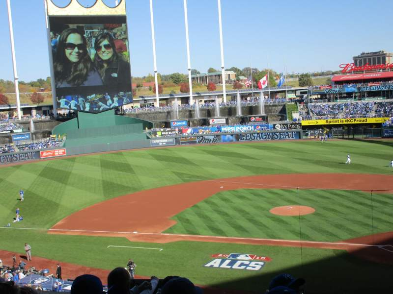 Seating view for Kauffman Stadium Section 311 Row E Seat 9