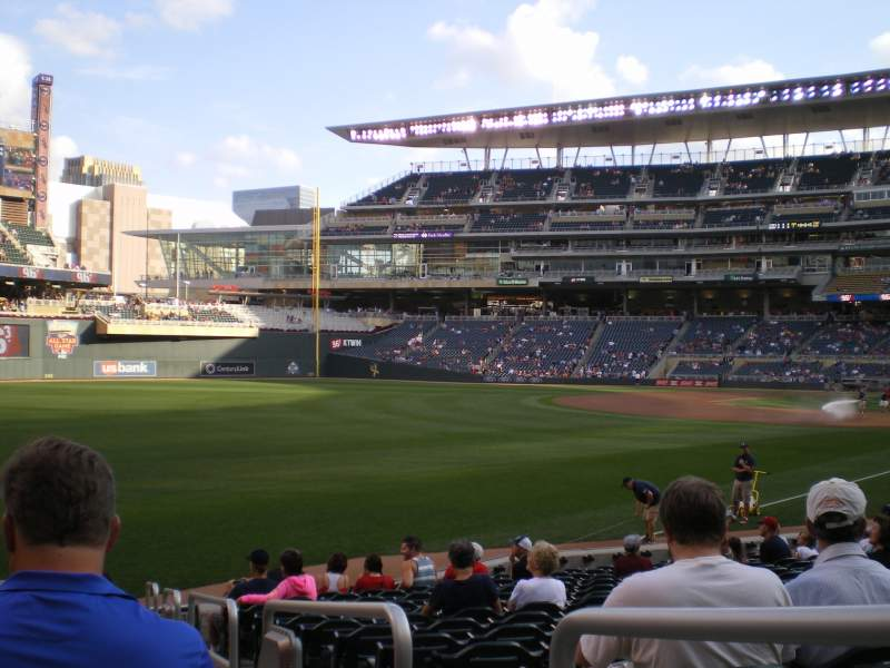Seating view for Target Field Section 127 Row 16 Seat 3