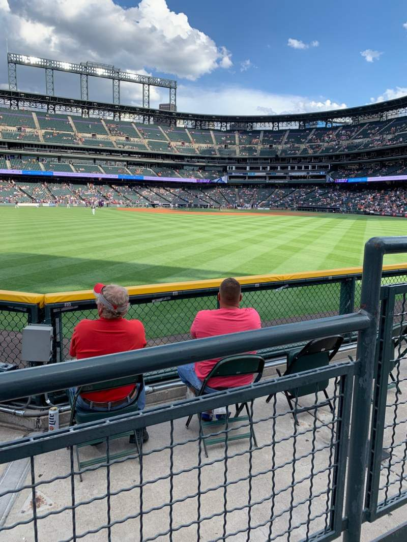 Seating view for Coors Field Section 157 Row 2 Seat 2