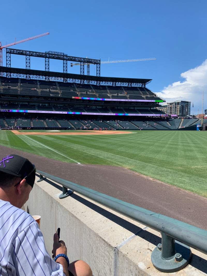 Seating view for Coors Field Section 112 Row 8 Seat 2