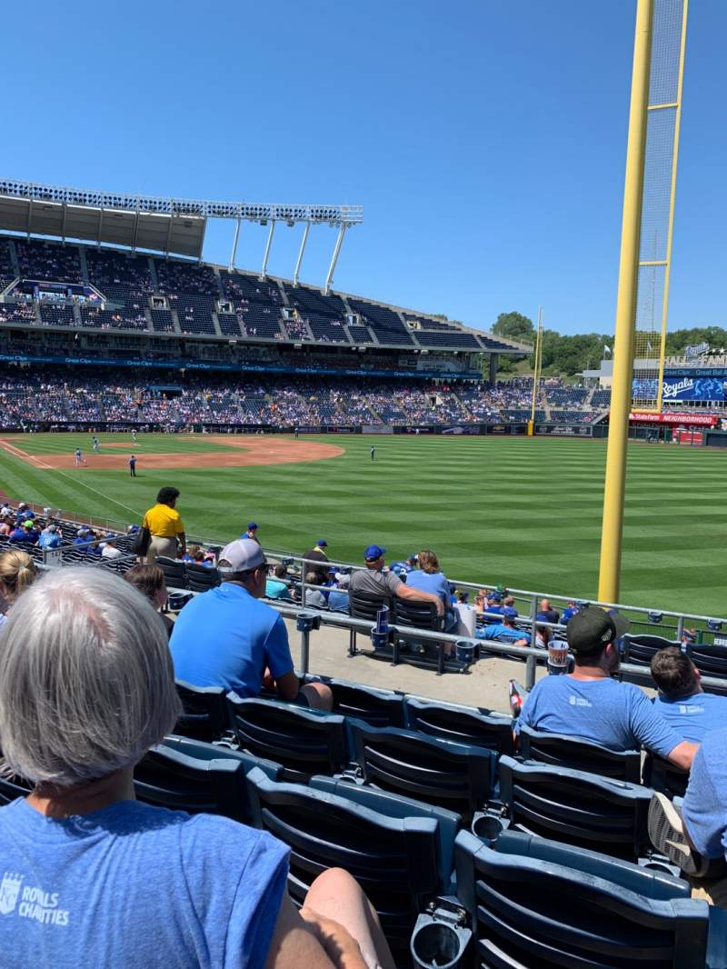 Seating view for Kauffman Stadium Section 247 Row EE Seat 17