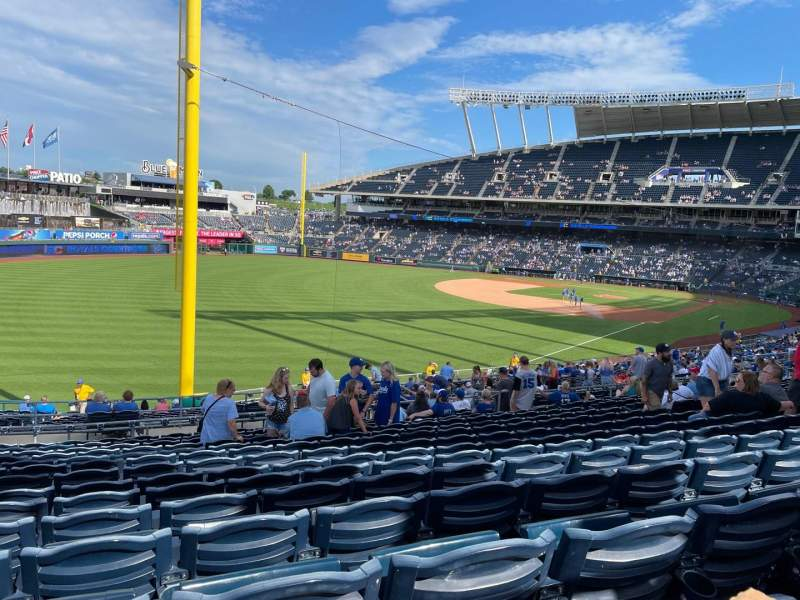 Seating view for Kauffman Stadium Section 208 Row PP Seat 13