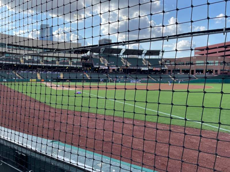 Seating view for Chickasaw Bricktown Ballpark Section 118 Row A Seat 2