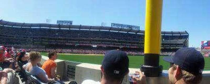 Seating view for Angel Stadium Section field box 133 Row B Seat 7