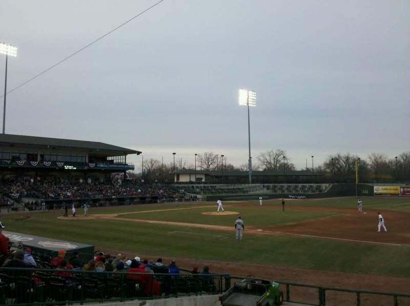 Seating view for Dow Diamond Section 113 Row 17 Seat 27