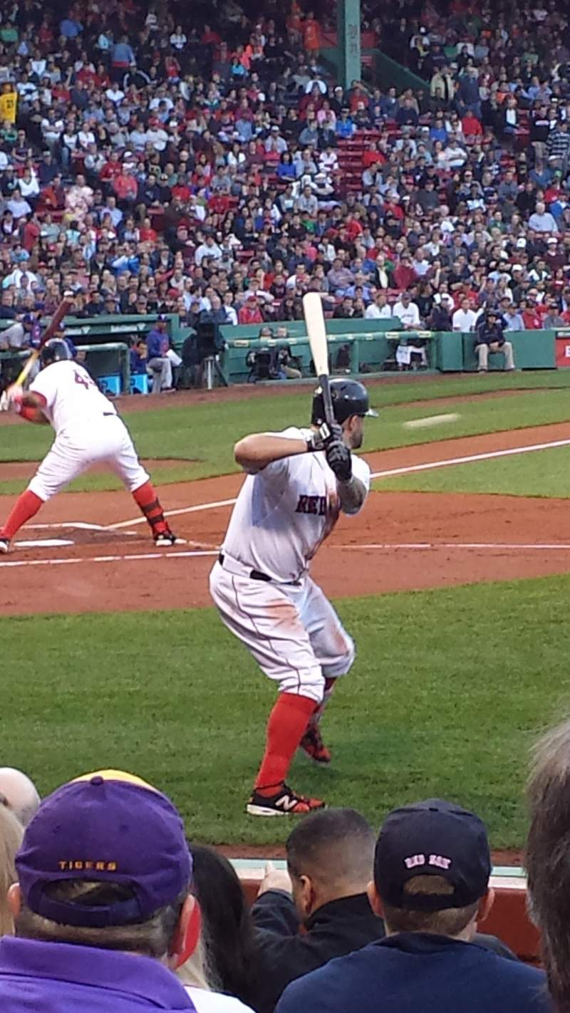 Seating view for Fenway Park Section Field Box 33 Row H Seat 3
