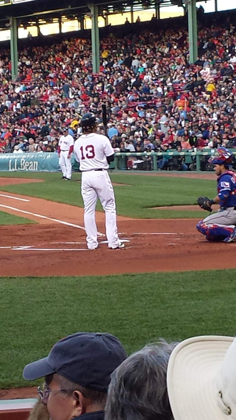 Fenway Park, section: Field Box 54, row: f, seat: 3