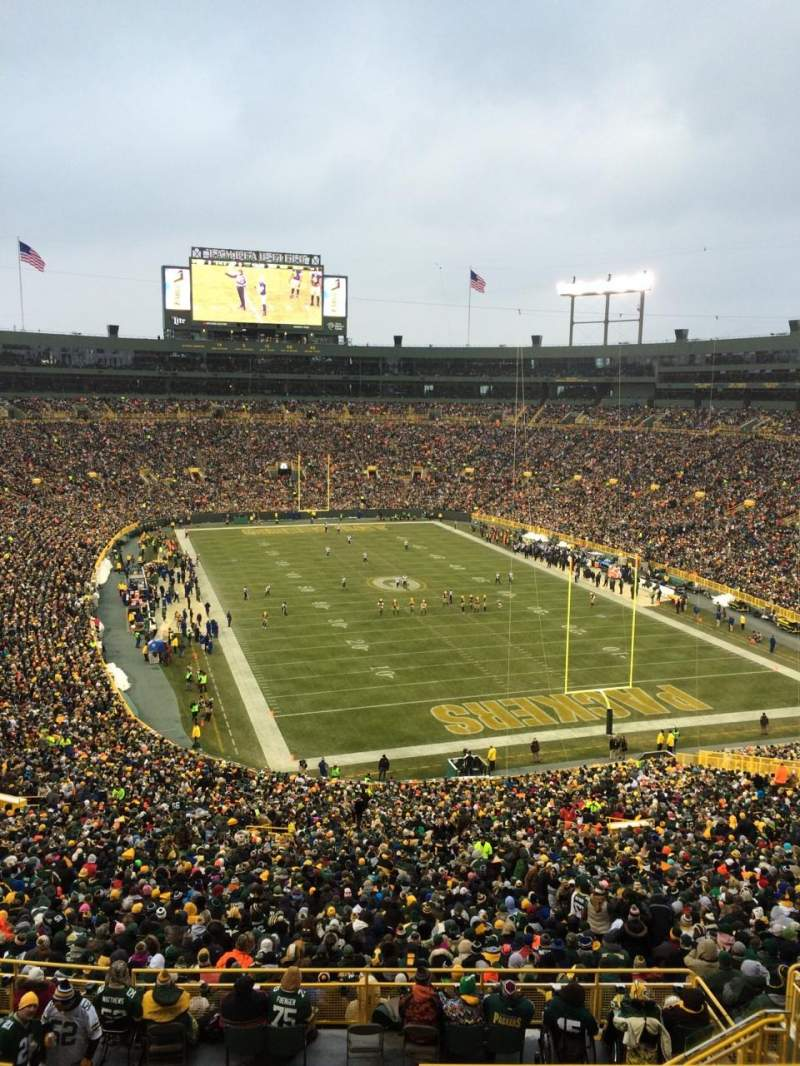 Seating view for lambeau field Section 434s Row SRO