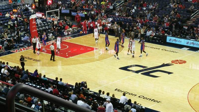 Seating view for Verizon Center Section 218 Row F Seat 3