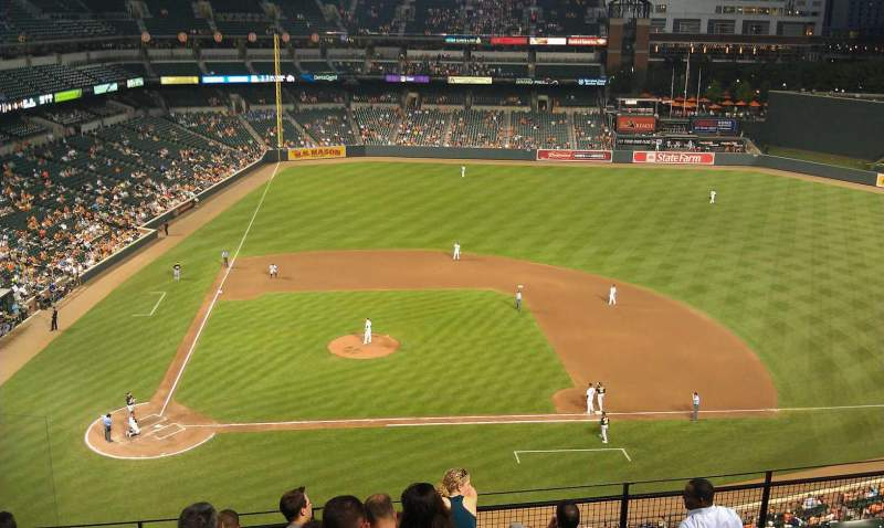 Seating view for Oriole Park at Camden Yards Section 324 Row 8 Seat 18