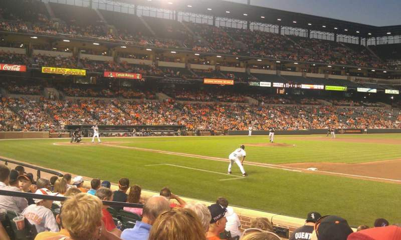 Seating view for Oriole Park at Camden Yards Section 16 Row 8 Seat 12