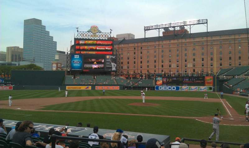 Seating view for Oriole Park at Camden Yards Section 46 Row 13 Seat 4