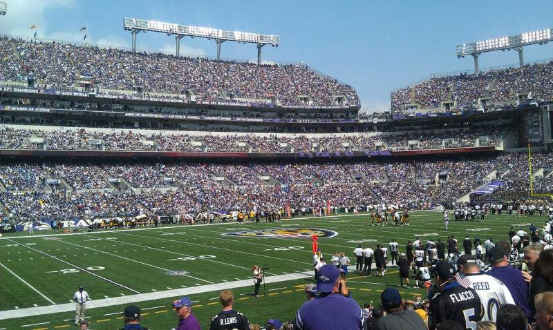 M t bank stadium section 130 home of baltimore ravens for Restaurants m t bank stadium