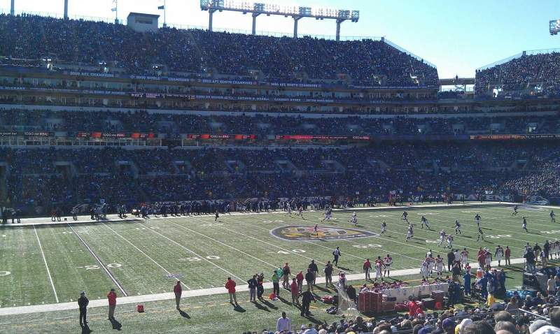 Seating view for M&T Bank Stadium Section 102 Row 30 Seat 19