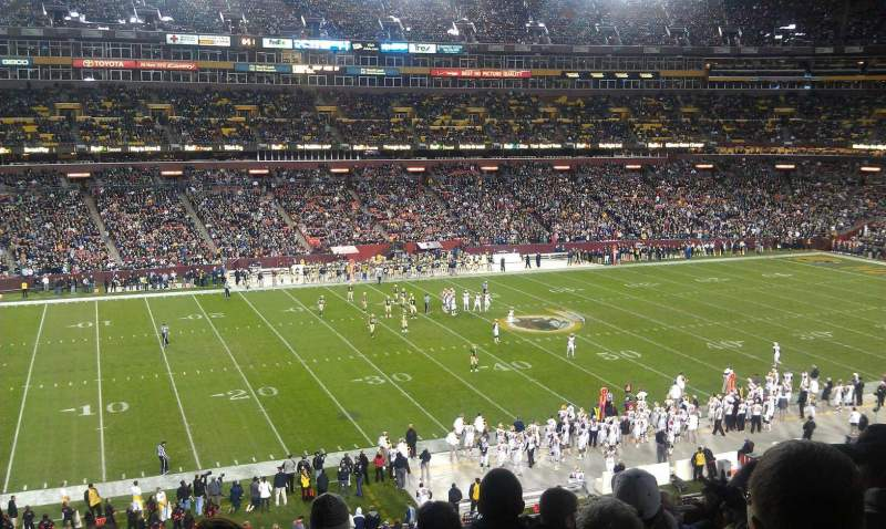 Seating view for FedEx Field Section 324 Row 9 Seat 20