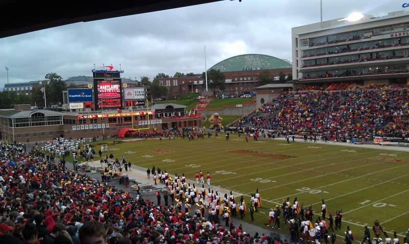 Seating view for Maryland Stadium Section 10
