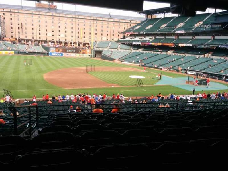 Seating view for Oriole Park at Camden Yards Section 55 Row 9 Seat 22