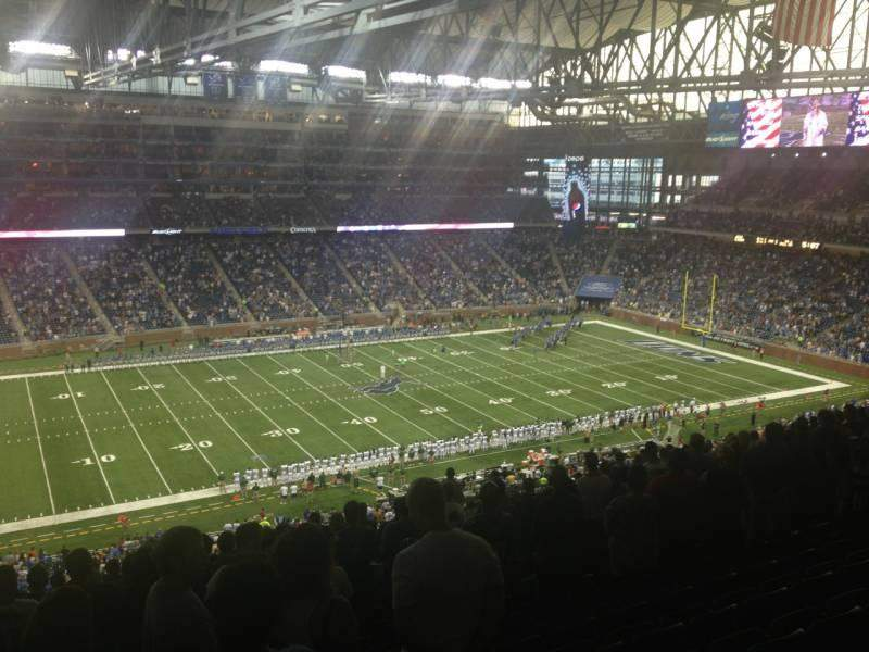 Seating view for Ford Field Section 328 Row 14 Seat 12