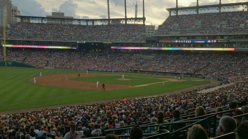 Seating view for Comerica Park Section 141A Row E Seat 6