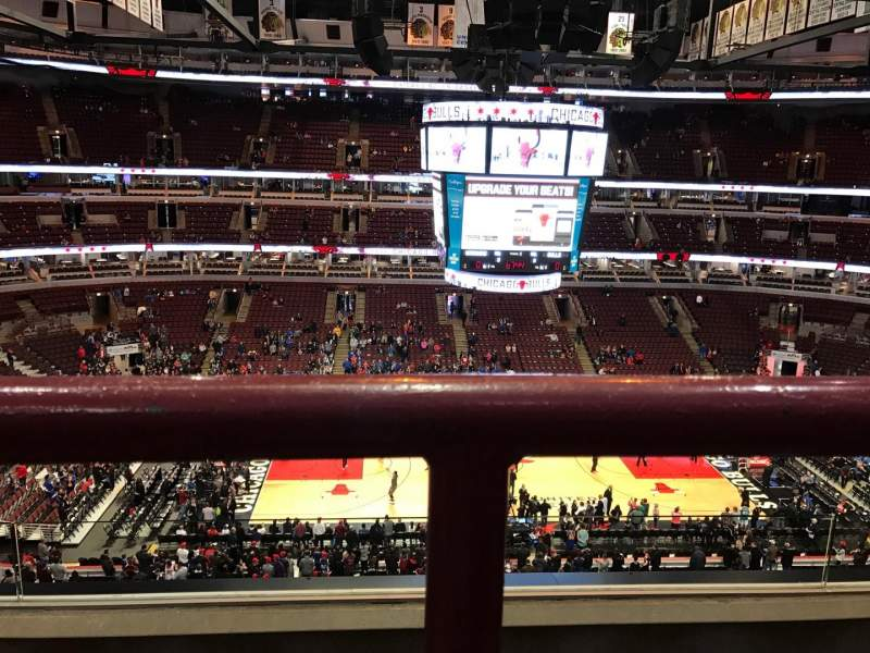 Seating view for United Center Section 318 Row 3 Seat 12