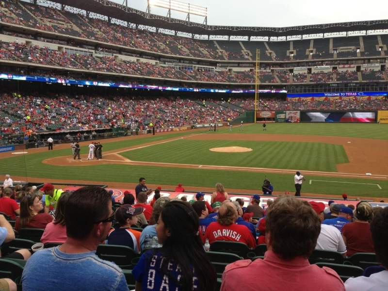 Seating view for Globe Life Park in Arlington Section 33 Row 20 Seat 9