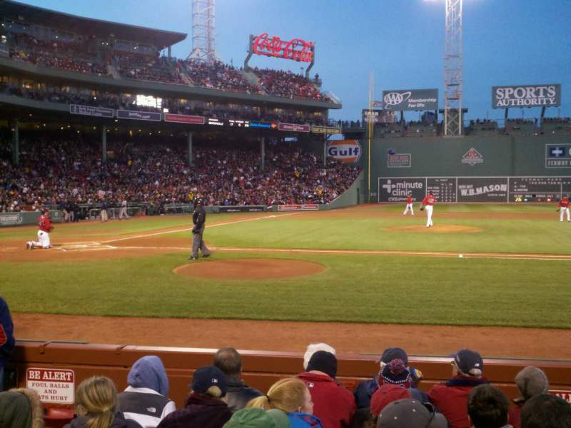 Seating view for Fenway Park Section 16-FB32 Row E Seat 3