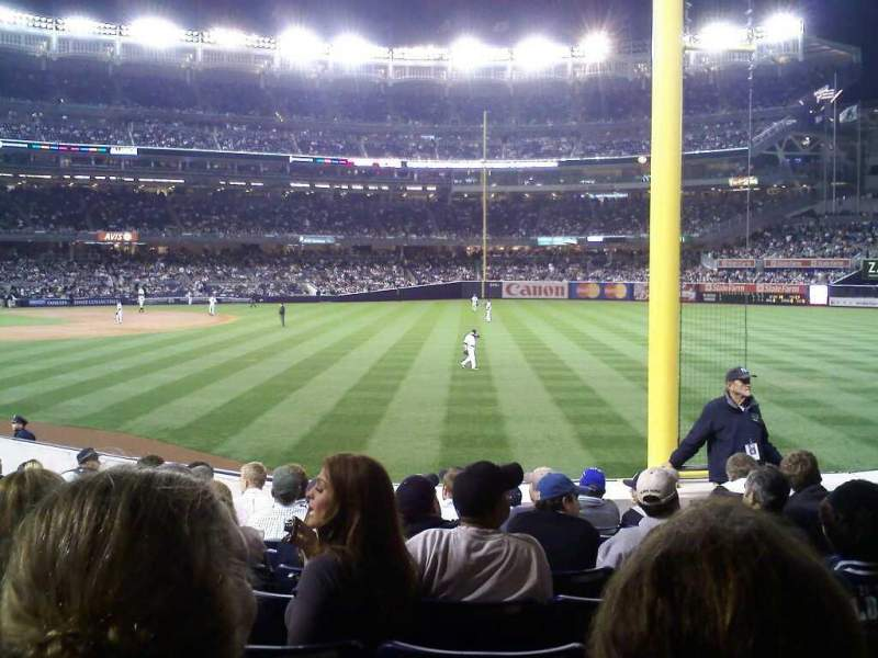 Seating view for Yankee Stadium Section 108 Row 18 Seat 6