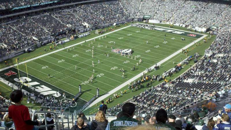 Seating view for MetLife Stadium Section 320 Row 22 Seat 36