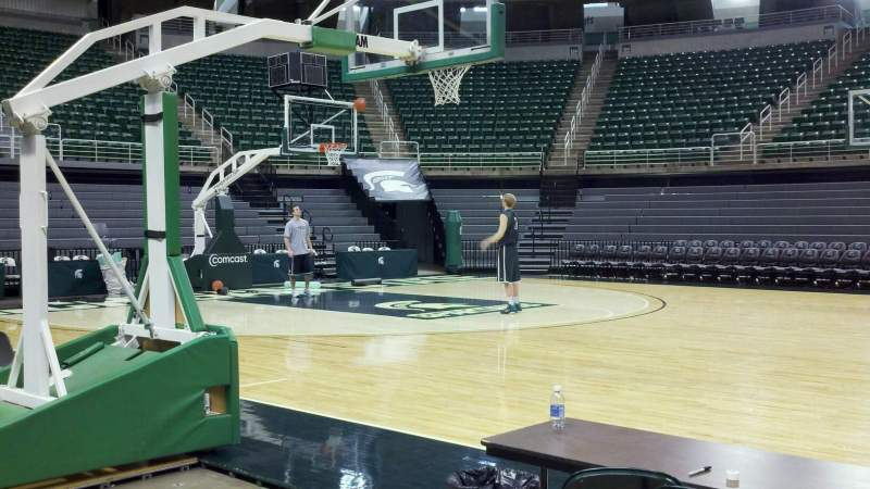 Seating view for Breslin Center Section 1 Row 1 Seat 1