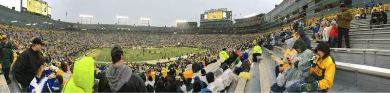 Seating view for Lambeau Field Section 114 Row 43 Seat 11