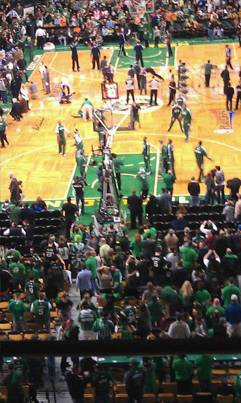 Seating view for TD Garden Section Bal 323 Row 2 Seat 12
