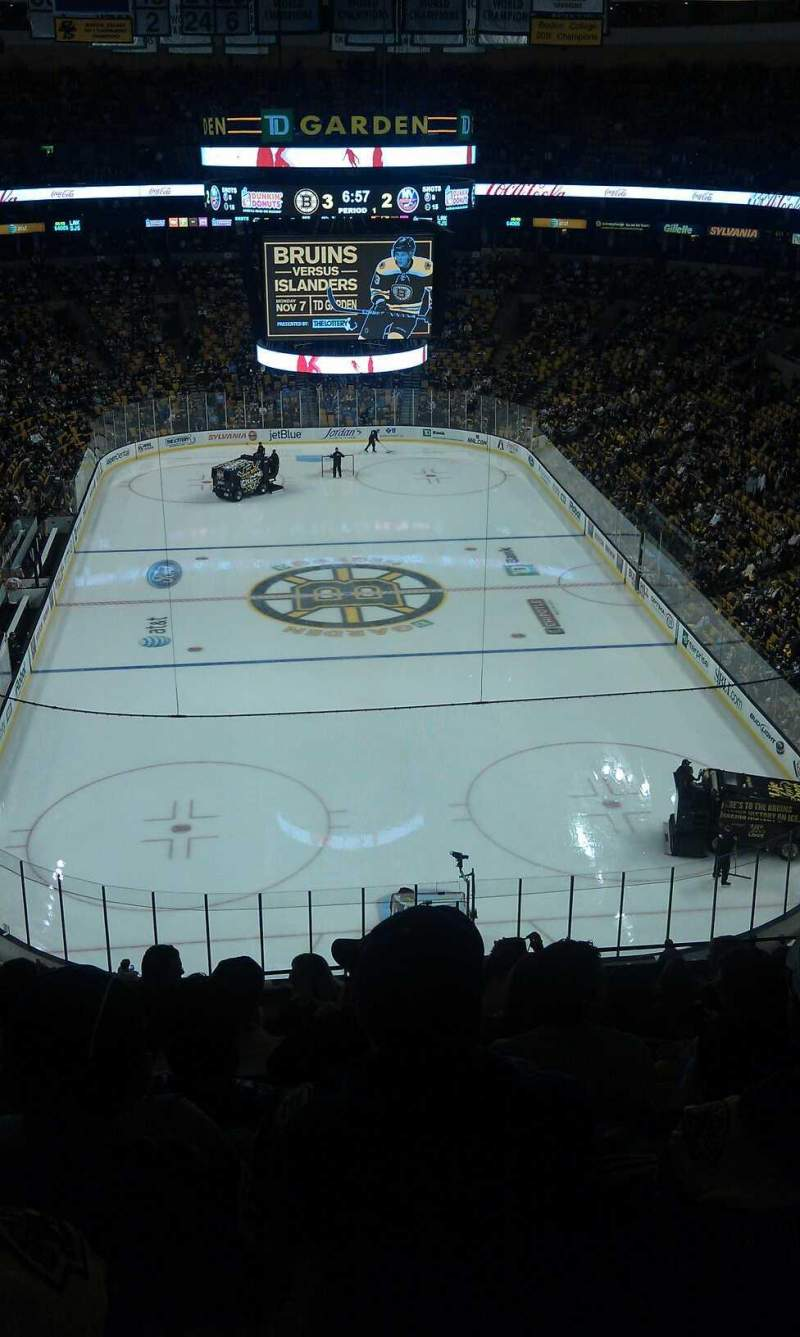 Seating view for TD Garden Section Bal 324 Row 9 Seat 9