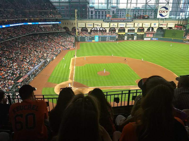 Seating view for Minute Maid Park Section 323 Row 4 Seat 11