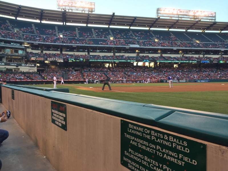 Seating view for Angel Stadium Section F127 Row AA Seat 18