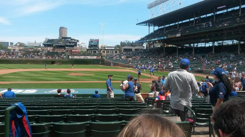 Seating view for Wrigley Field Section 115 Row 2 Seat 1