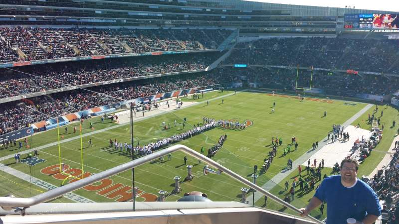 Seating view for Soldier Field Section 446 Row 1