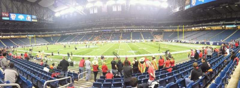 Seating view for Ford Field Section 109