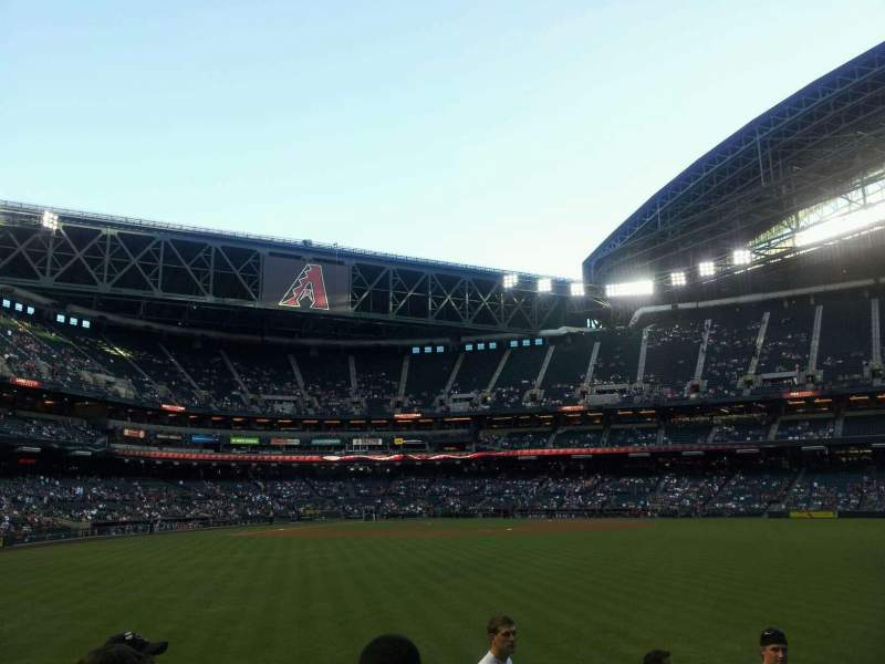 Seating view for Chase Field Section 103